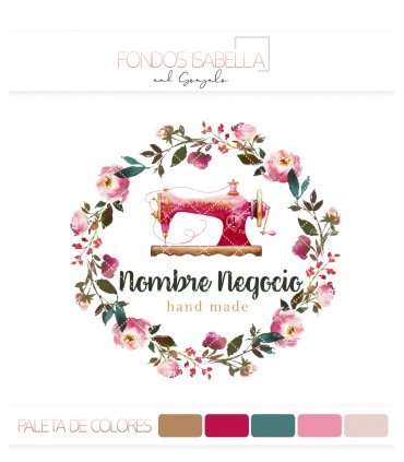 Logo costura marco flores maquina vintage