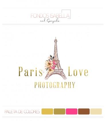Logo fotografia Paris vintage oro