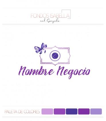 Logo fotografia tonos lilas