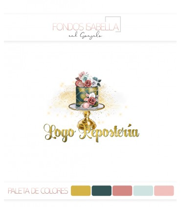 Logo repostería vintage flores