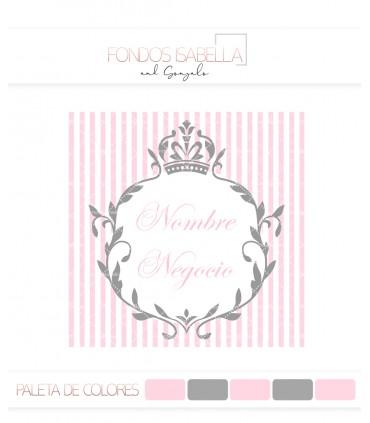Logo vintage gris y rosa