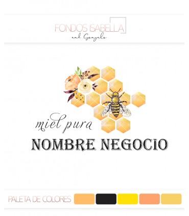 Logo miel vintage