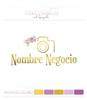 Logo fotografia oro y flores