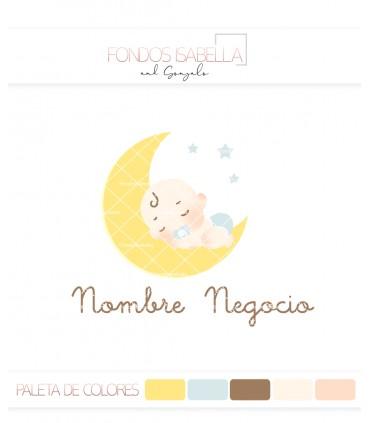 Logo infantil bebé luna