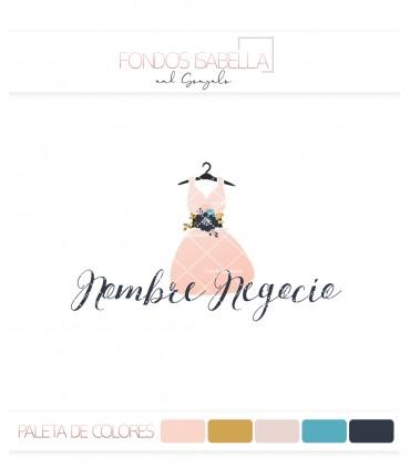 Logo tienda de moda mujer percha vestido