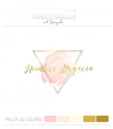 Logo chic oro y rosa
