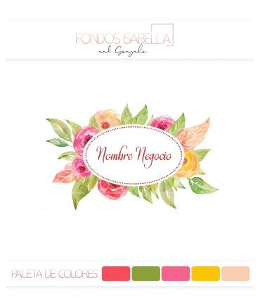 Logo ovalado flores