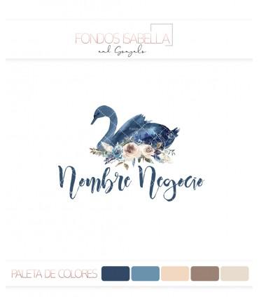 Logo cisne azul vintage